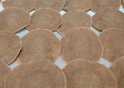 Ravioles con pasta de espelta integral